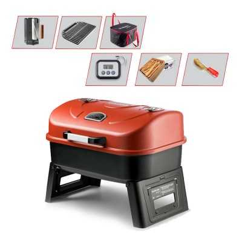 Guruss Go&Grill Portatif Barbekü Kırmızı   Gurme Set Mangal - 1